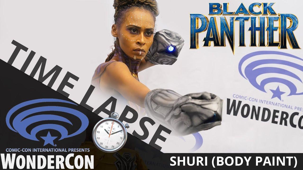 Black Panther - Shuri (Makeup Time Lapse) | WonderCon 2018 | EI Makeup School