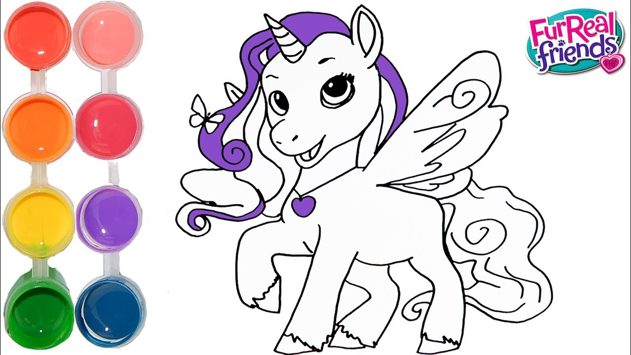 Starlily Unicorn Coloring Pages