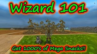 Wizard101: Get 1000's Mega Snacks at Low Level - Couch Potato n' Evil Magma Peas
