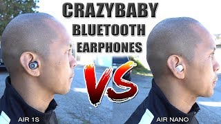 CrazyBaby Air 1S/Air Nano vs Apple AirPods Bluetooth/Wireless Earphones [4K]