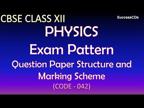 CBSE Class XII Physics Exam Pattern and Paper Structure