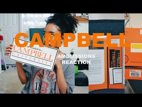 Admissions Decision Reaction #2   Campbell University