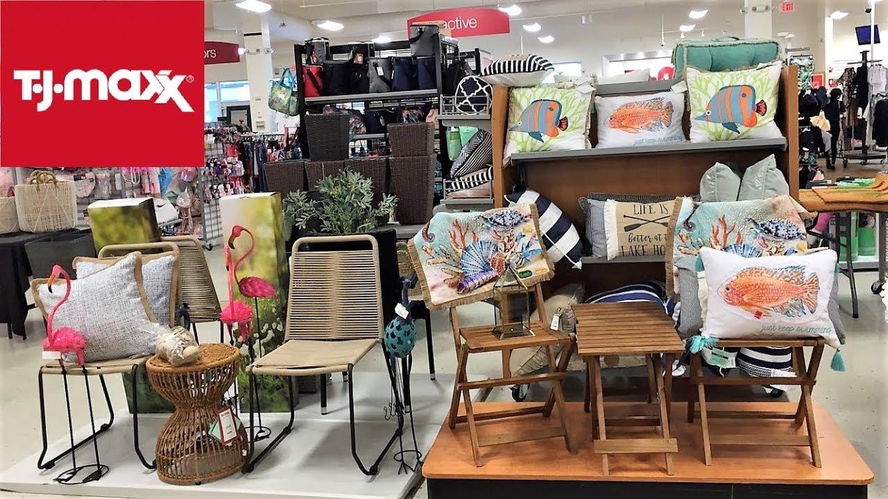 tj maxx summer furniture home decor shop with me shopping store walk through 4k