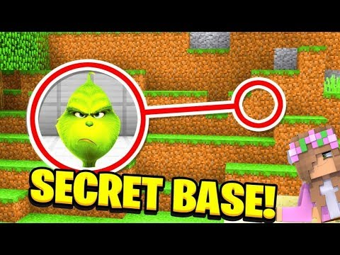 HOW TO BREAK INTO THE GRINCH SECRET BASE | Minecraft w/ Little Kelly & Tiny Turtle