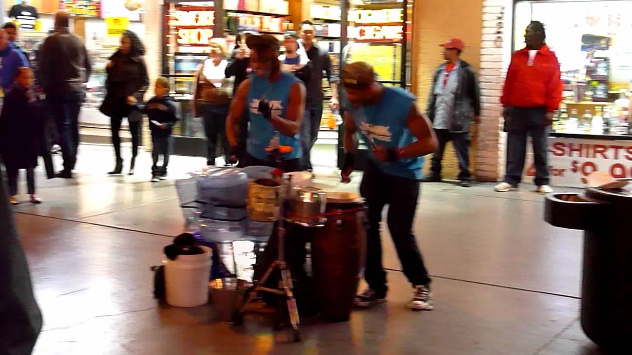 Junk Drummers Street Performers Las Vegas Fremont Street YouTube
