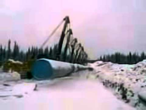 NEW Epic 14 Crains Crashed in Siberia during gas tubes demolition only in Russia 2013