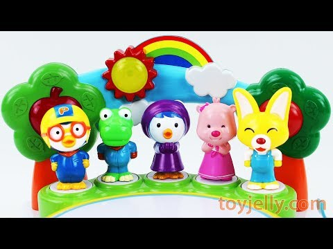 Sing along with Pororo Baby Karaoke Toy Learn Colors Surprise Kinder Joy Egg Baby Finger Family Song