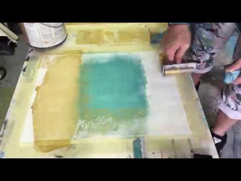 Art Studio: Painting: Acrylic on Paper with Ink Brayer