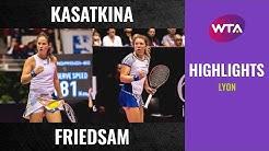 Daria Kasatkina vs. Anna-Lena Friedsam | 2020 Lyon Semifinal | WTA Highlights