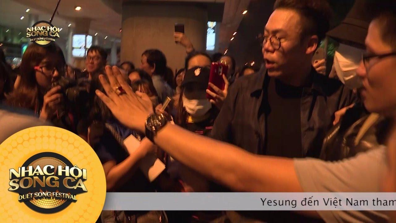 Cận cảnh Yesung thoát khỏi vòng vây Fan Việt