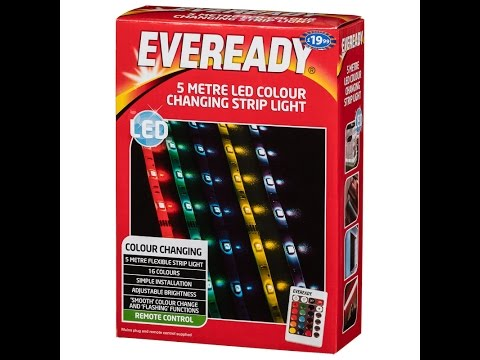 Eveready 5 metre LED strip light unboxing