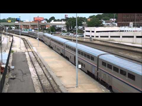 Amtrak #4 Southwest Chief with Double Phase III leading & Amtrak Business Cars