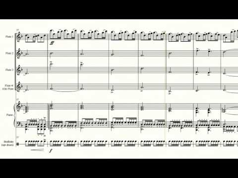 Game Of Thrones - Arranged For Four Flutes And Piano With Optional Bodhrán
