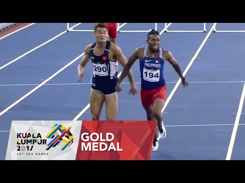 Fil-Am Eric Cray wins Gold in Men's 400m Hurdles (VIDEO) SEA Games 2017
