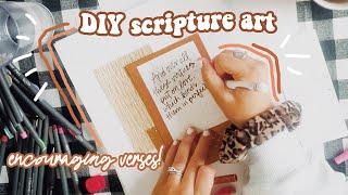 Encouraging Verses For Your Home...diy Bible Art