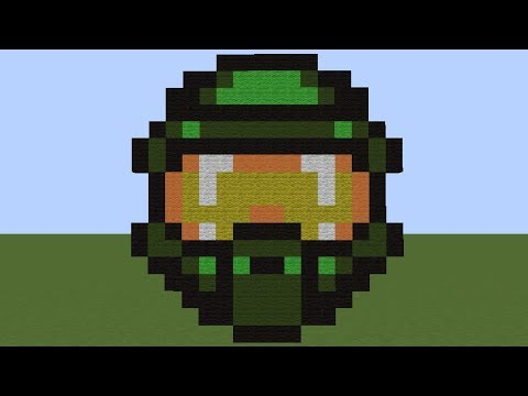 How To Make Master Chief Helmet Halo Minecraft Pixel Art