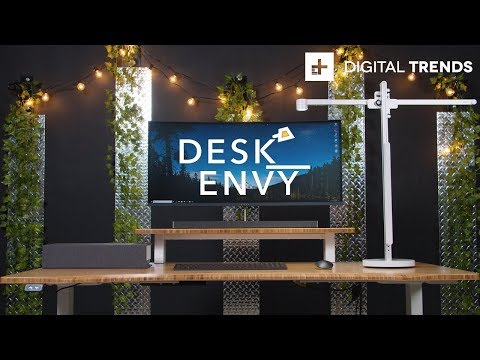 HP Envy Curved All in One Clean Desk Setup + HP Tango X Printer Giveaway | Desk Envy