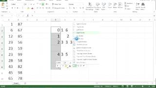 Put Numbers in Order using Excel