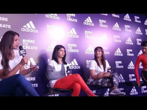 Dipika Pallikal,Geeta Phagat & Nikhat zareen unveil Adidas Campaign