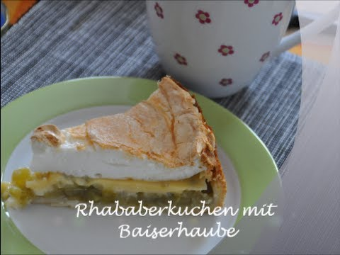 rhabarberkuchen mit baiserhaube youtube. Black Bedroom Furniture Sets. Home Design Ideas