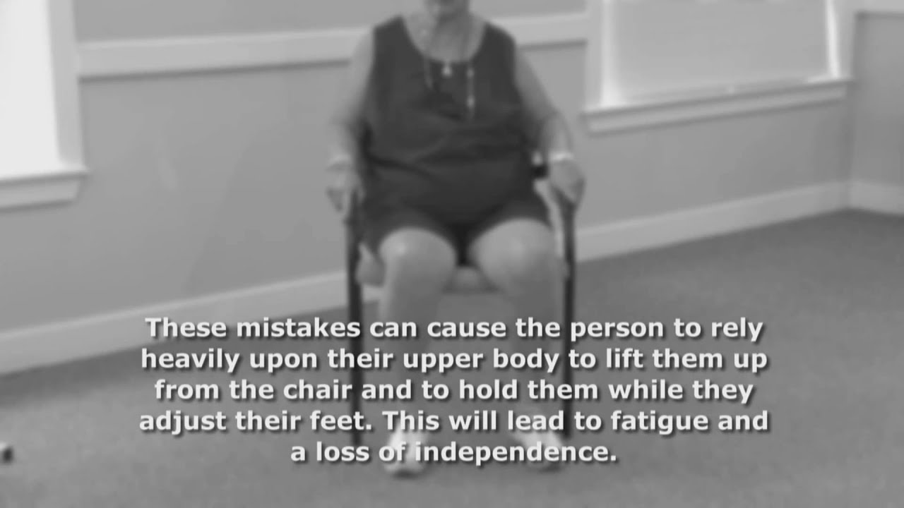 Common Mistakes When Getting Out of a Chair