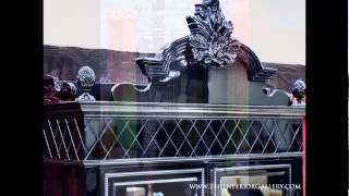 Modern Black Gloss China Cabinet - Dining Buffet Cabinet - Mistique