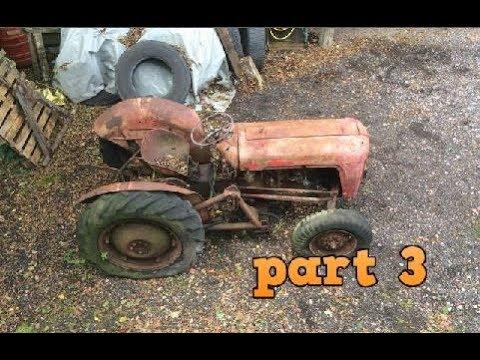 Massey Ferguson 35 Restoration Part 3 Engine, Steering And Fuel