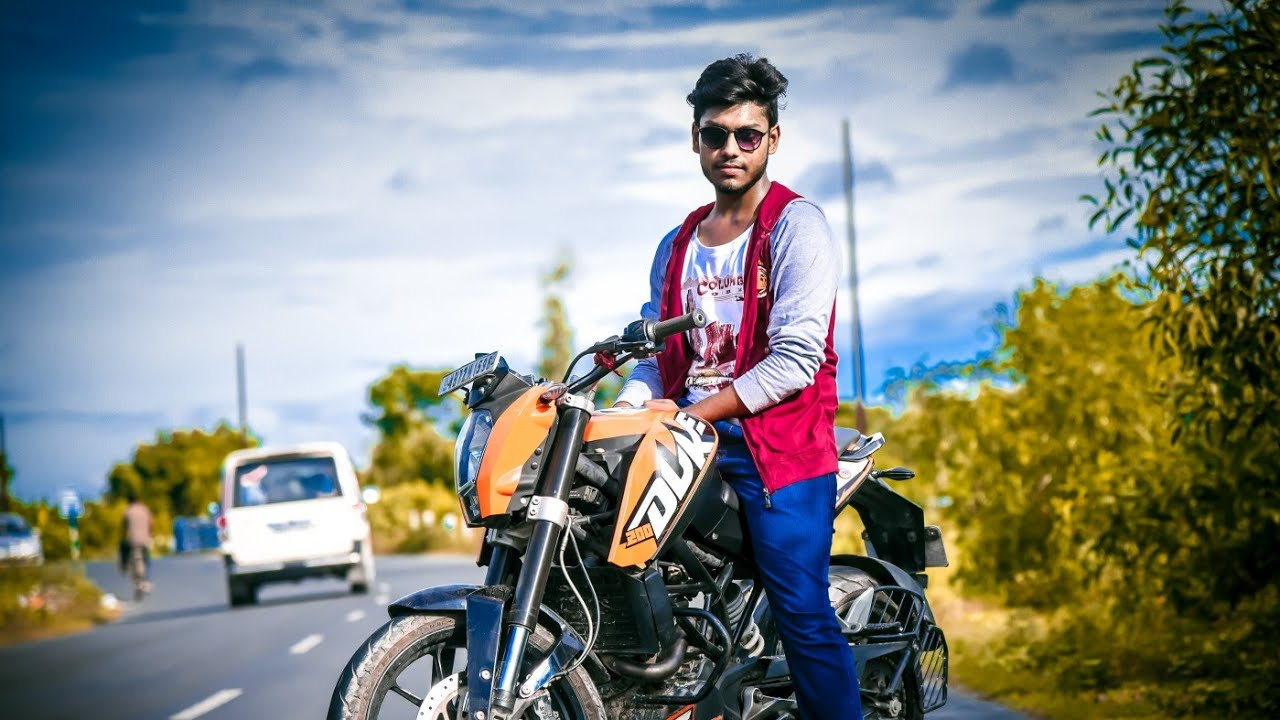Best Pose For Man On Bullet Ktm Duke Photoshoot Youtube