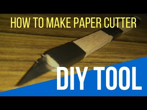 How To Make Paper Cutter at Home - DIY | DIY Paper Cutter From Blade