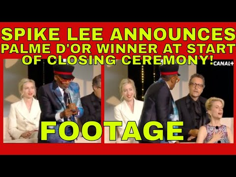 SPIKE LEE ACCIDENTALLY announces WINNER OF PALME D'OR at BEGINNING of Cannes closing gala FOOTAGE