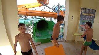 aqua tube water slide at makadi bay water world