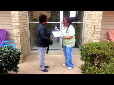 Kelly's Choice, Inc  with Mary Wilson surprising her with the 2015 Kelly's  Choice Caregivers Awards