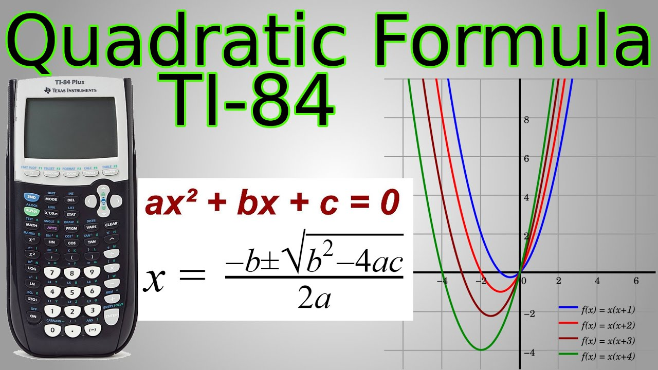 Ti 84 Quadratic Formula Program Amp Factoring Works For