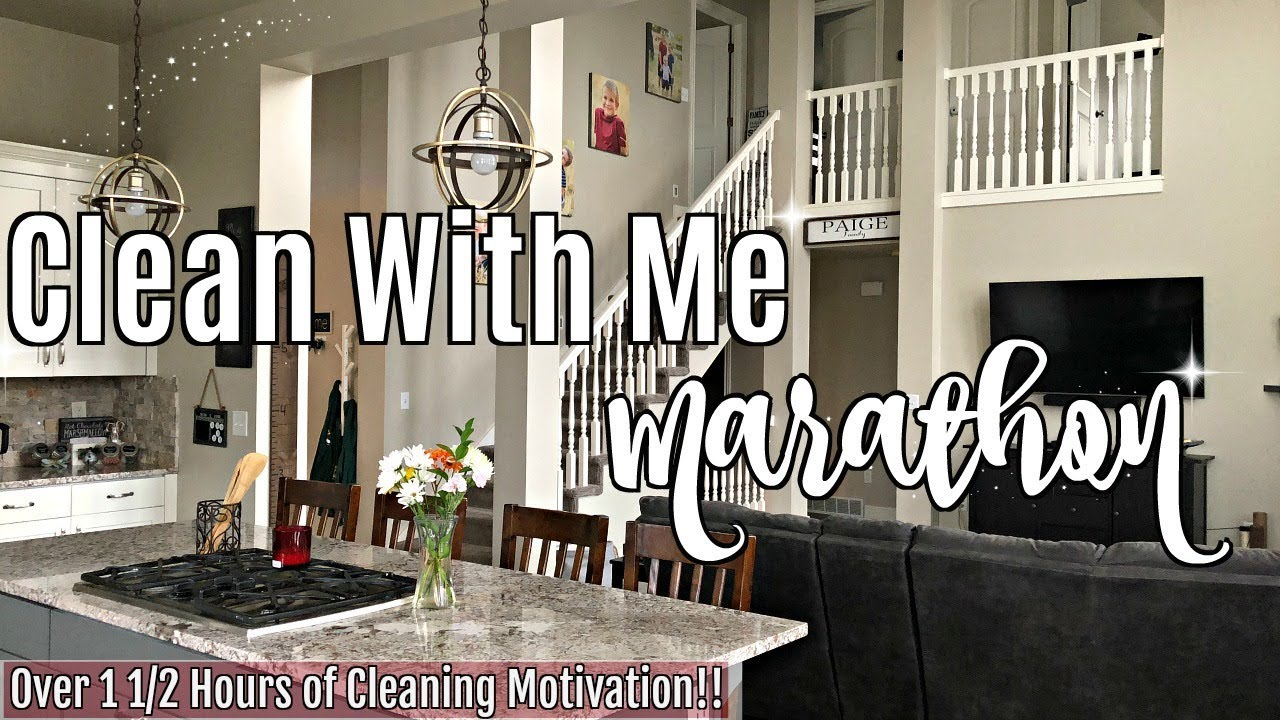 Clean With Me Marathon 2019 1 1 2 Hours Of Insane Speed Cleaning Motivation Cleaning Routine
