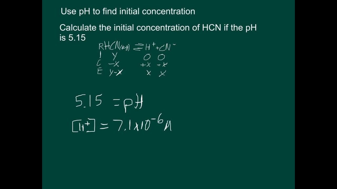How to find a concentration 31