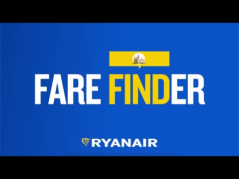 How to use Ryanair Fare Finder