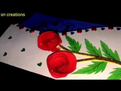 diy card/ valentine day card/ love greetings card/ card/ card 2019/ Valentine special card