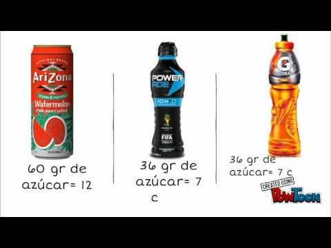 cantidad de azúcar en las bebidas - YouTube