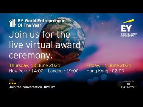 EY World Entrepreneur Of The Year winner announcement 2021