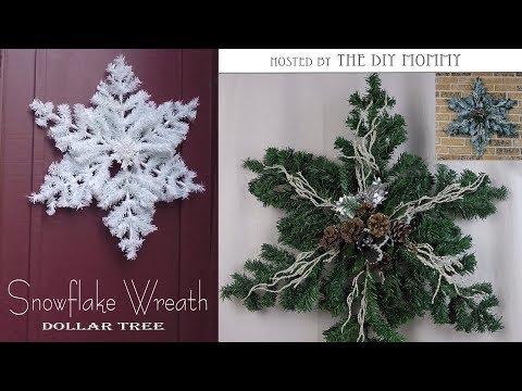 Snowflake Wreath / Christmas DIY & Decor Challenge Hosted By The DIY Mommy /Dollar Tree DIY
