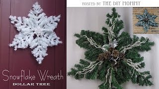 Snowflake Wreath Christmas Diy Decor Challenge Hosted By The Diy Mommy Dollar Tree Diy Youtube