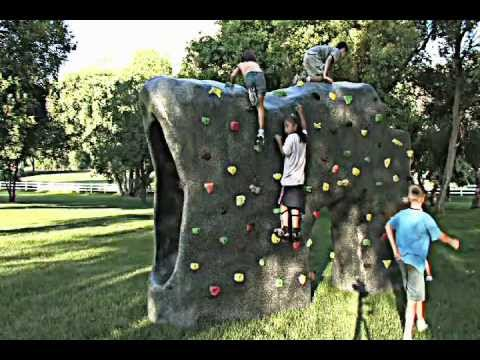 Rock Climbing Boulder with Slide- by Backyard Boulders - Rock Climbing Boulder With Slide- By Backyard Boulders - YouTube