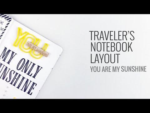 Traveler's Notebook Layout | Color Cast Designs DT April 2018