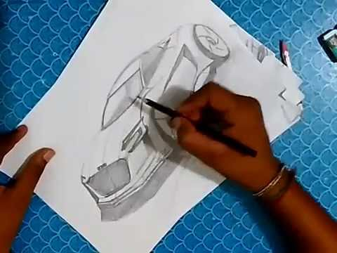 How to draw a AUDI with pencil