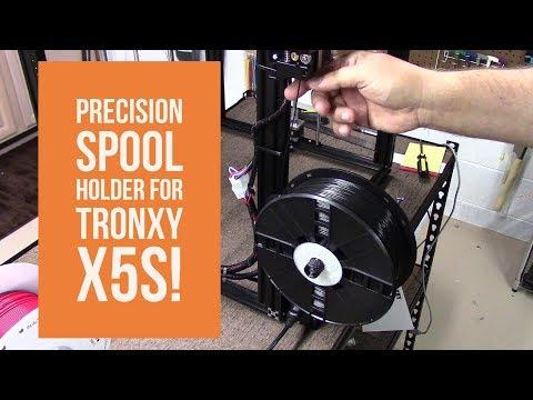 Tronxy X5S – Precision Spool Bracket! – DIY 3D Tech