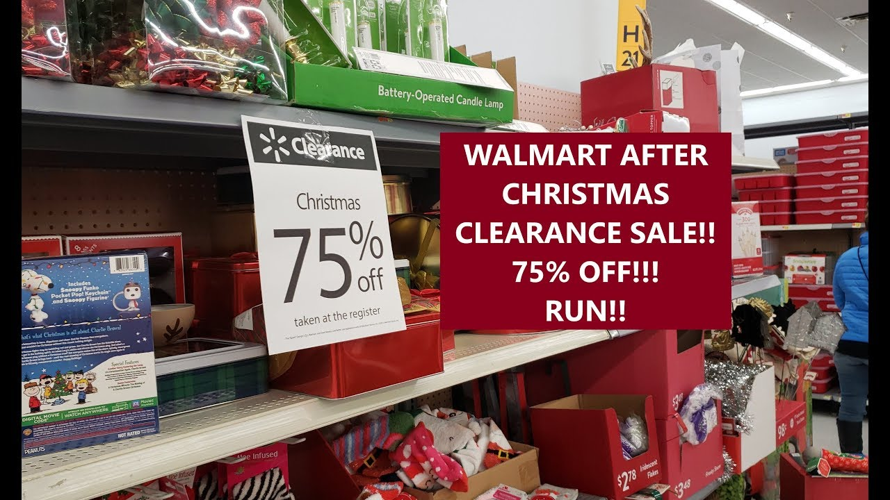 When Will Walgreens Christmas Clearance Be 75% Off January 2021 75 Off Walmart After Christmas Clearance Sale Run Youtube