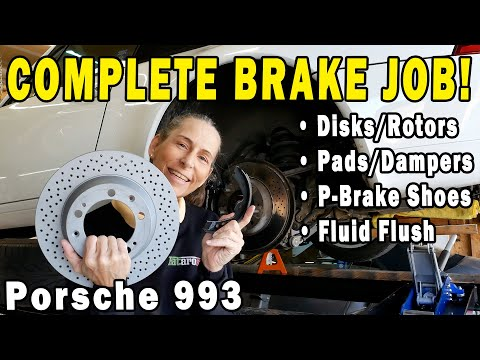 How to replace disk brakes COMPLETE!  Porsche 993
