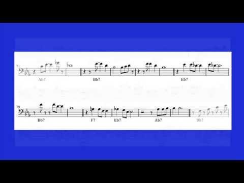 Basic Bb Blues Improvisation (notation aid)