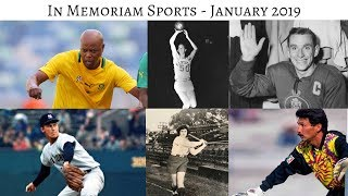 In Memoriam Sports January 2019 - Athletes who died in January 2019 #InMemoriam #Sports