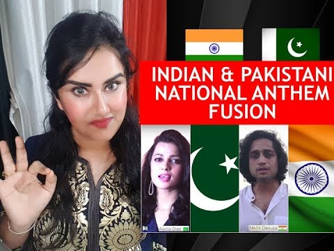 INDIAN Reaction on PAKISTAN NATIONAL ANTHEM & INDIAN NATIONAL ANTHEM